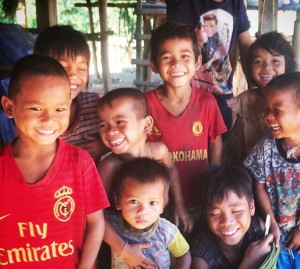Children in Labangkhok village, Eastern Laos. Photo: Ministry of Planning and Investment