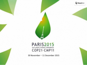 The 21st Conference of Parties to the UN Framework Convention on Climate Change (COP 21) in Paris marks a major international opportunity for concerted action on climate change.